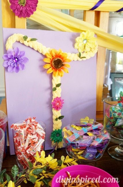 Rapunzel birthday party ideas diy inspired rapunzel birthday party braided hair filmwisefo