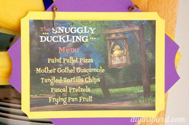 Rapunzel Birthday Party Food Menu