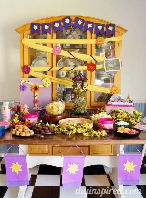 Rapunzel Birthday Party Ideas DIY Inspired