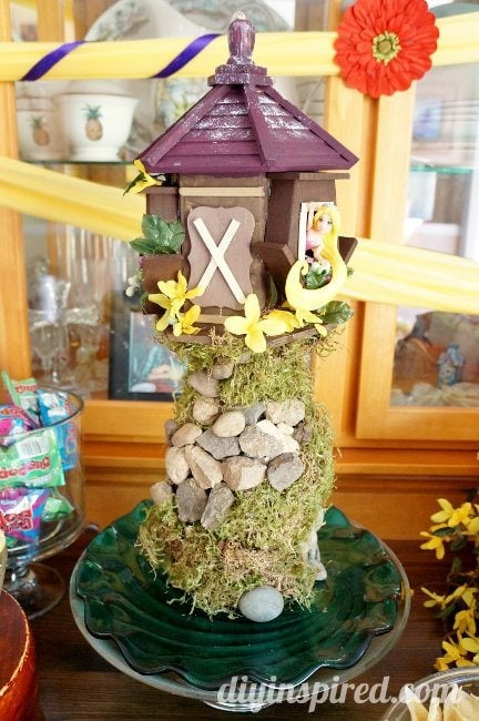 Rapunzel Birthday Party Repurposed Tower