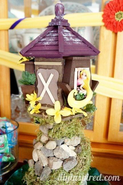 Rapunzel Birthday Party Tower Centerpiece