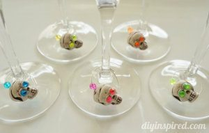 Skull Wine Charms (1)