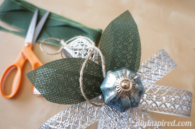 Upcycled Metal Ribbon Pumpkin How To