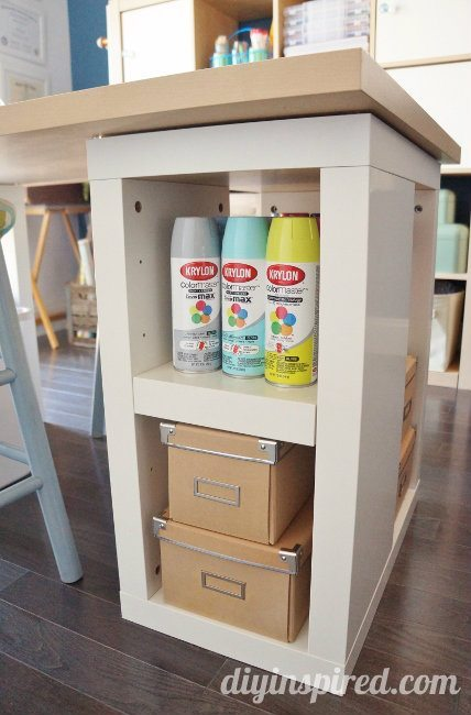 Craft Table and Storage (2)