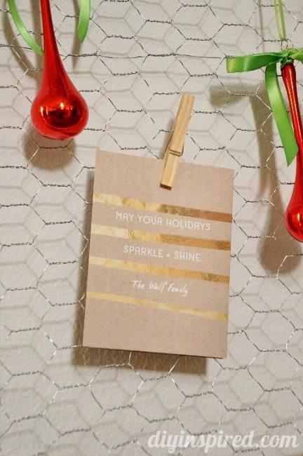 DIY Christmas Card Display Repurposed