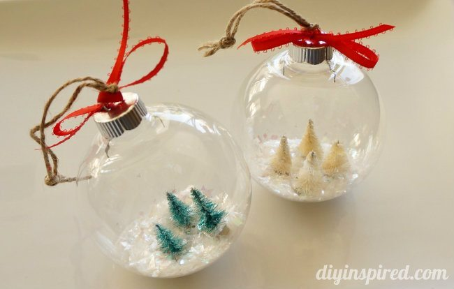 Diy Snow Globe Ornaments Diy Inspired