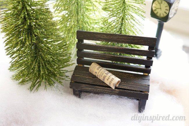 Easy Winter Scene in a Cloche