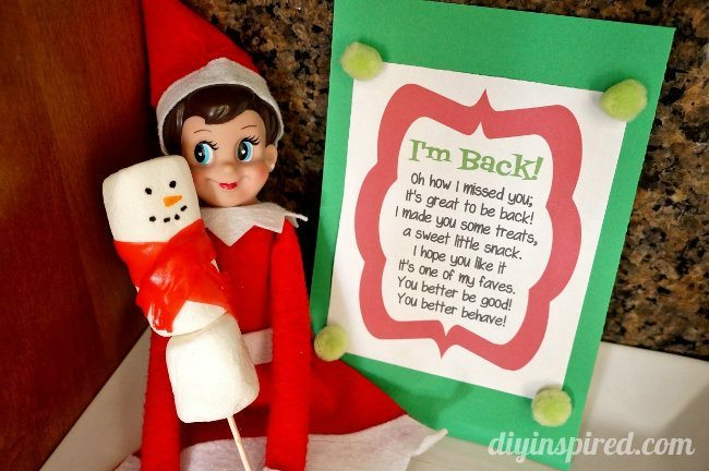 Elf on the Shelf First Day Idea - DIY Inspired