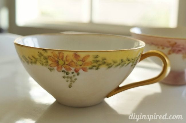 Vintage Hand Painted Tea Cups (1)