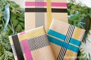 Washi Tape gift Wrapping Idea
