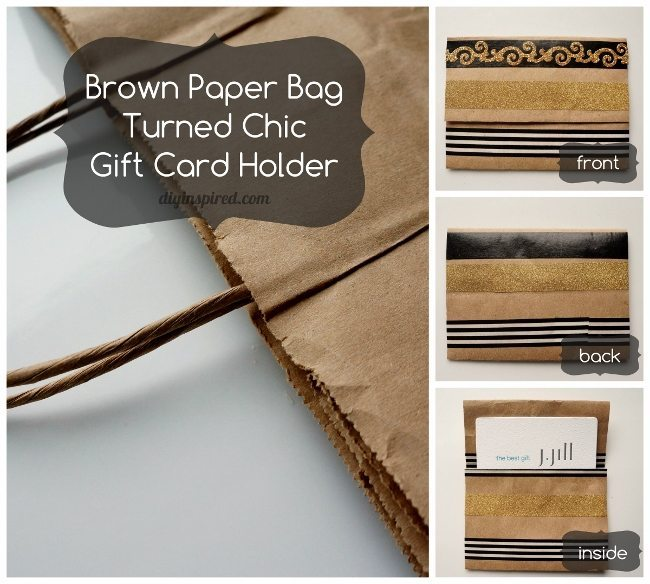 Brown Paper Bag Turned Chic Gift Card Holder (650x584)