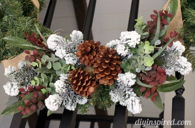 Christmas Wreath with Succlents and Burlap