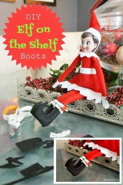DIY Elf on the Shelf Boots - DIY Inspired
