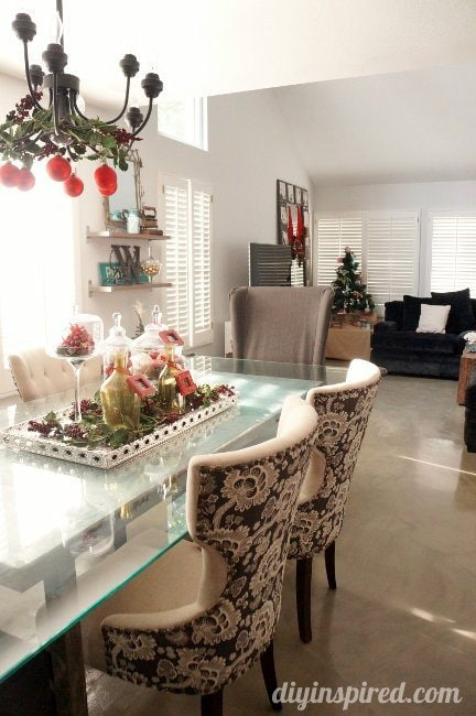 DIY Inspired Christmas Home Tour Dining Room