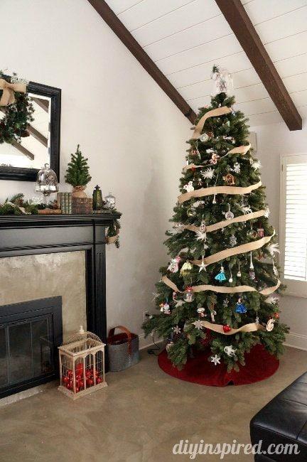 DIY Inspired Christmas Home Tour Family Room (3)