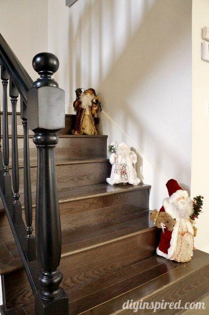 DIY Inspired Christmas Home Tour Staircase (1)