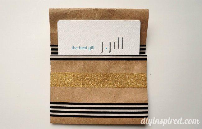 DIY Repurposed Gift Card Holder