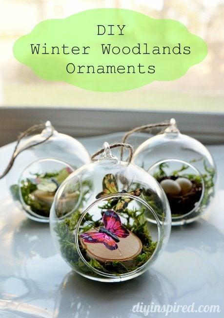 DIY Winter Woodland Ornaments