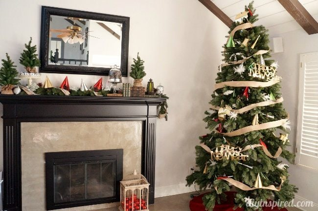 Decorate for New Years Christmas Tree