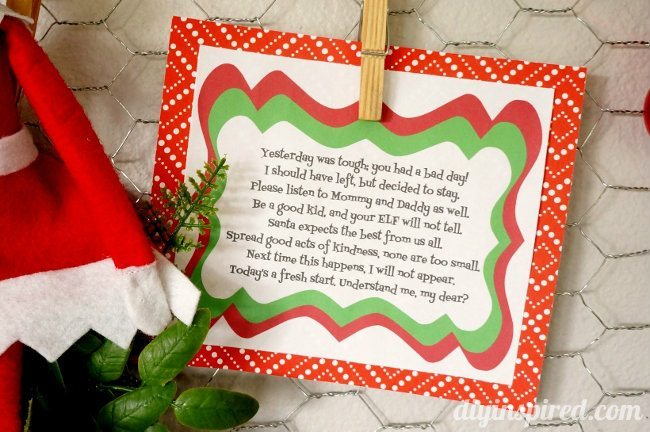 Elf on the Shelf Bad Day Poem