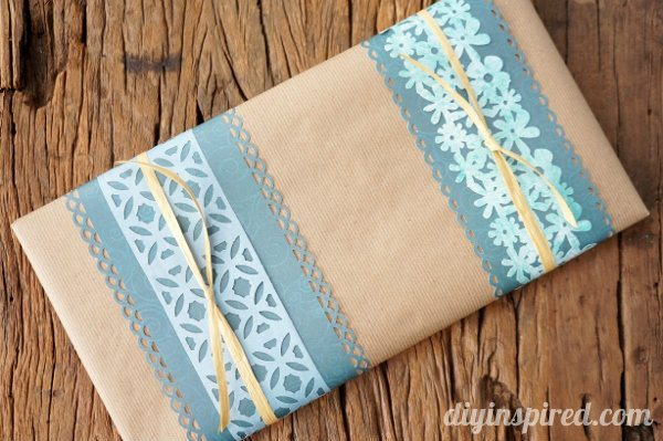 Embellish gifts with paper scraps