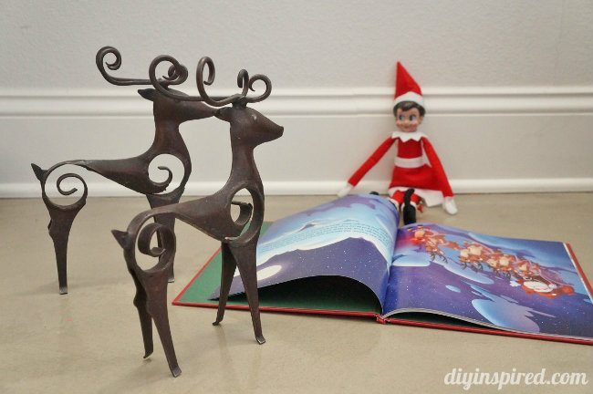 Last Minute Elf on the Shelf Ideas Day 16 Reading Elf