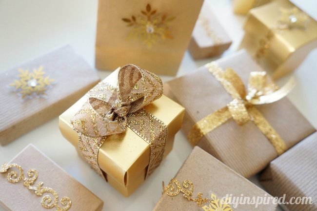 Recycle small boxes for gift wrapping