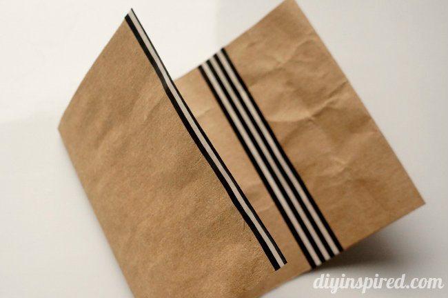 Repurposed Brown Paper Bag Upcycle