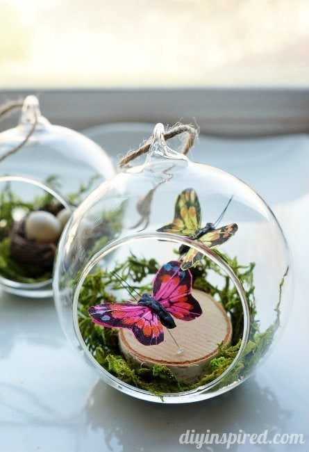 Winter Woodland Butterflies Ornament
