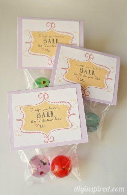 Bouncy Ball Valentine Free Printable