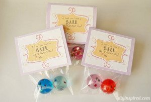 Bouncy Ball Valentine Printable DIY