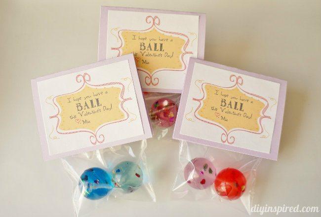 Bouncy Ball Valentine Printable DIY