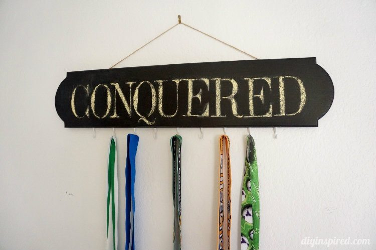 Chalkboard Medal Holder DIY