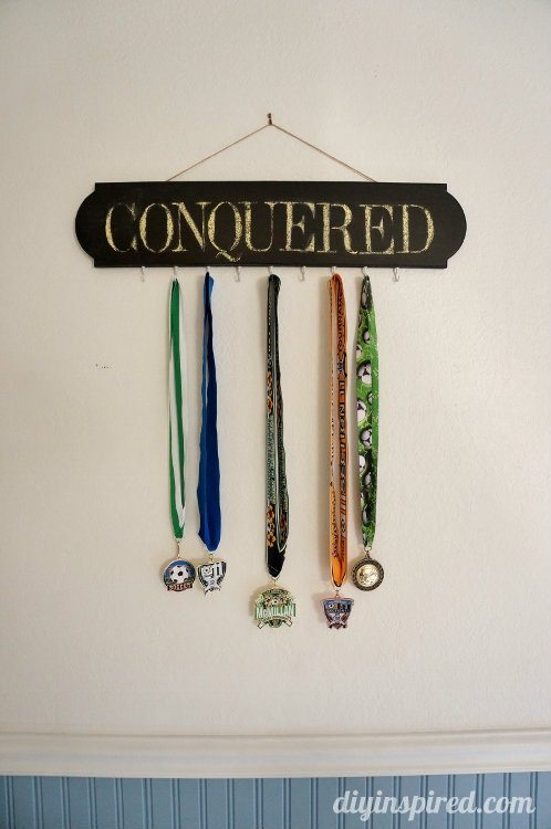 Chalkboard Medal Holder Trash to Treasure