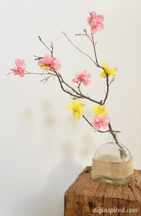 Craft Flowers on Natural Branches