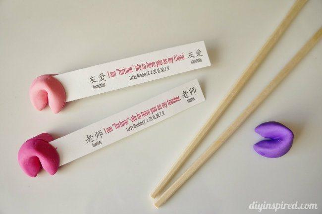 fortune cookie valentine diy