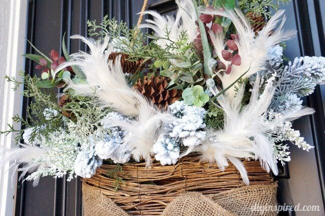 Front Door Winter Hanging Wreath