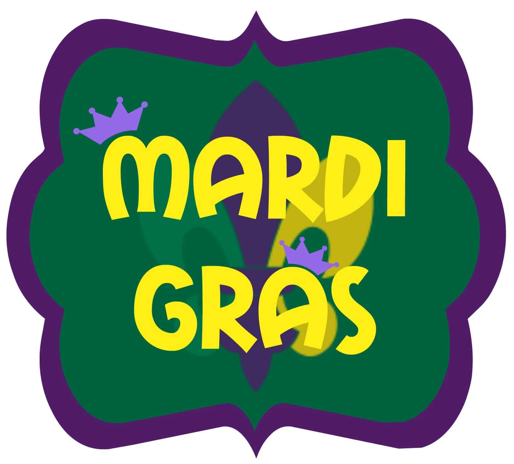 Mardi Gras Printable DIY Inspired