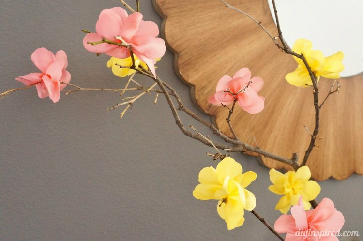 Ribbon craft flower arrangement diy inspired