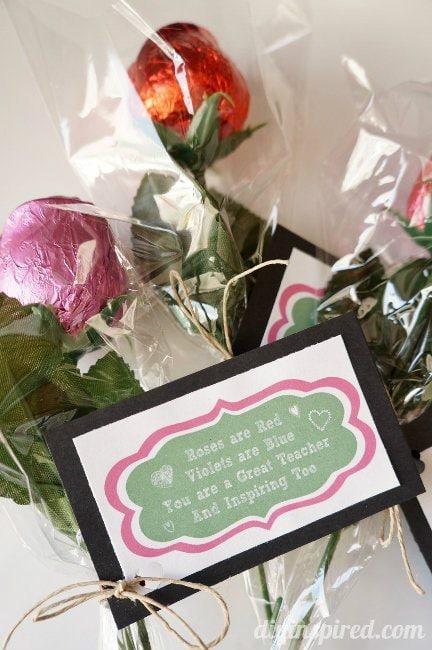 Roses are Red Printable Teacher Valentine