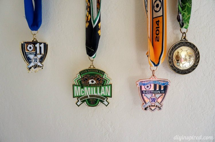Upcycled Chalkboard Medal Holder