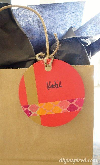 Washi Tape Gift Tag DIY