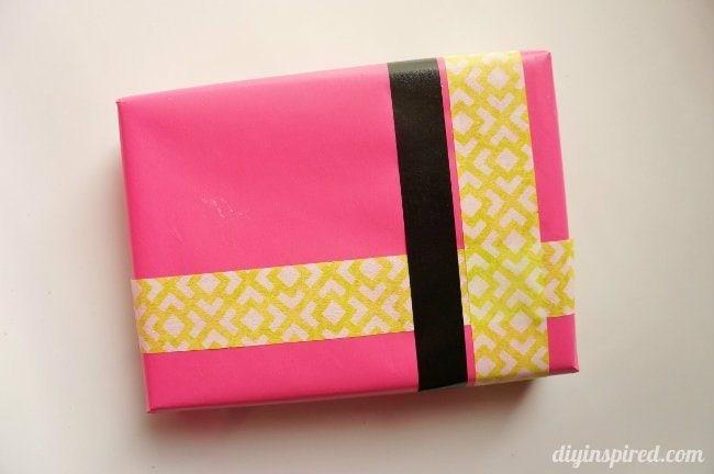 Washi Tape Gift Wrapping DIY