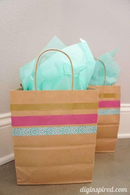 Washi Tape Gift Wrapping