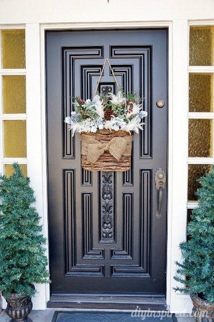 Winter Front Door Hanging Wreath