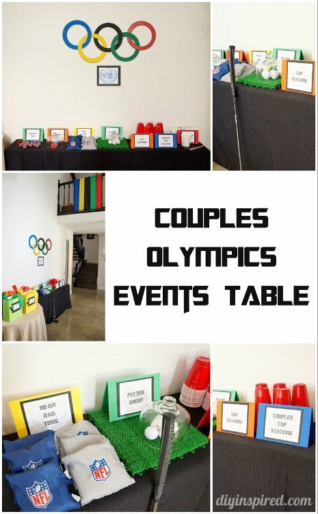 Couples Olympics Events Table