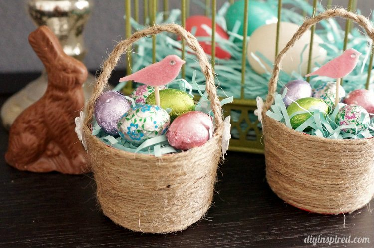 Mini plastic cup diy easter baskets diy inspired diy mini easter baskets negle Choice Image