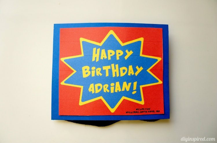 diy superhero birthday card  diy inspired, Birthday card