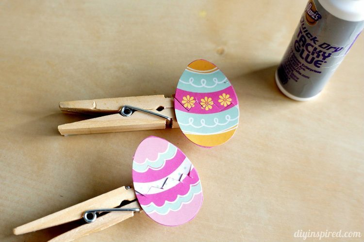 Easter egg clothespin craft for kids diy inspired for Mini clothespin craft ideas