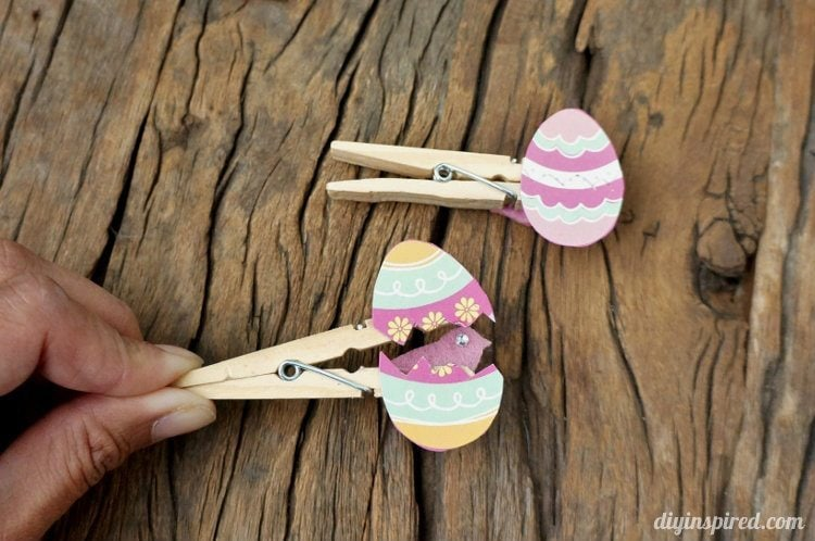 easter egg clothespin craft for kids   diy inspired
